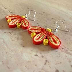 Kolczyki pomarańczowe -...