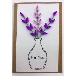 Karta okazjonalna kwiaty we...