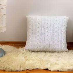 Poduszka z warkoczem biała